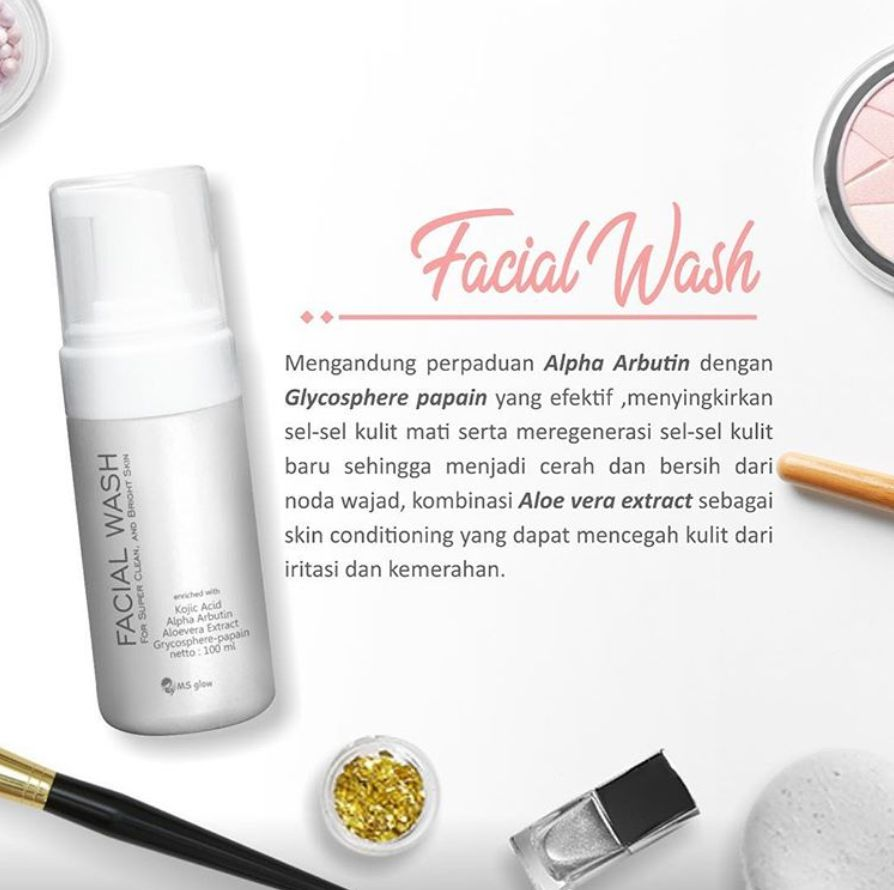 Kandungan Facial Wash MS Glow