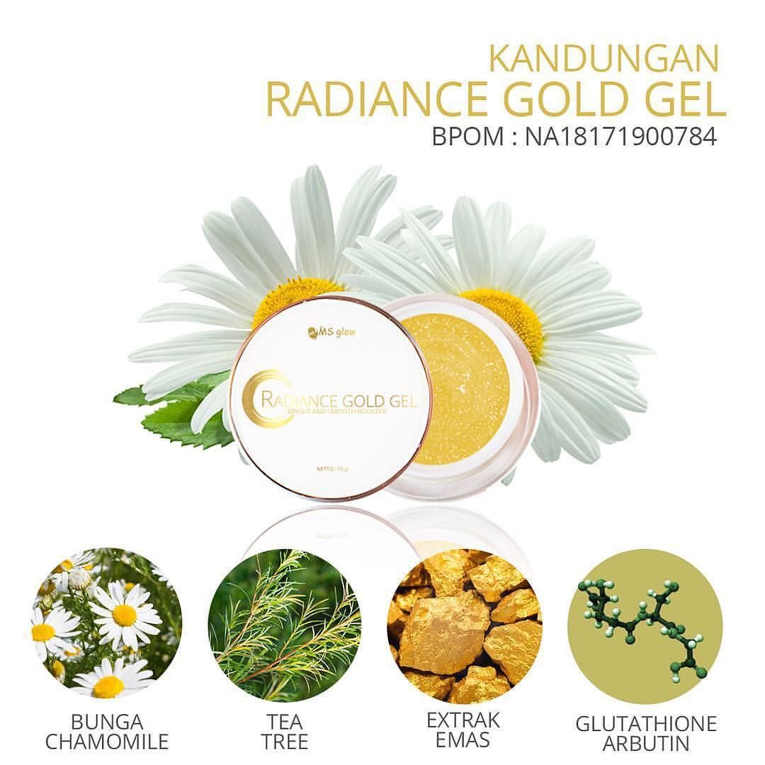 Update !! Kandungan Radiance Gold Gel Ms Glow 100% Original