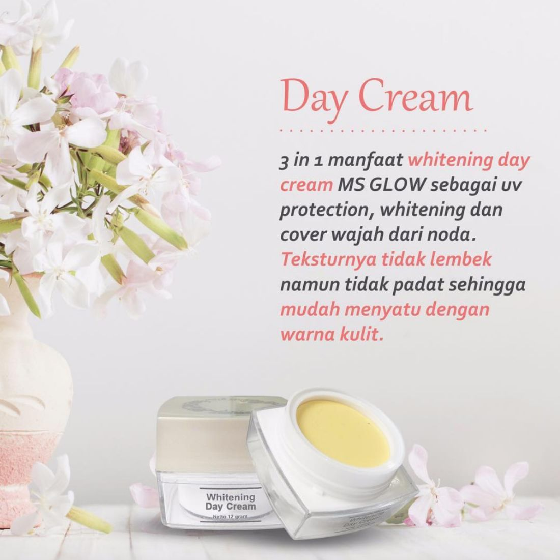 Kandungan Day Cream MS Glow