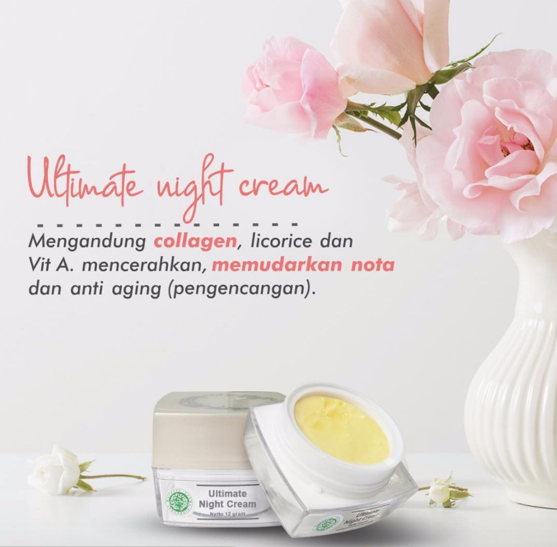 Kandungan Ultimate Night Cream MS Glow