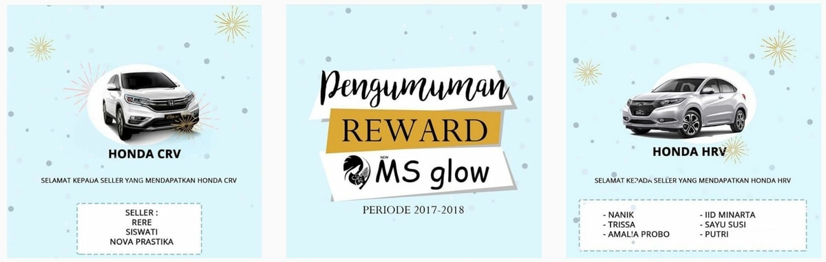 Rewards & Bonus MS Glow