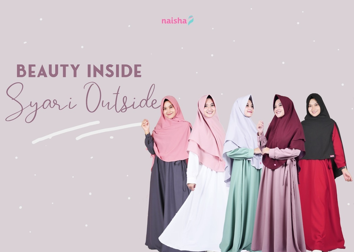 Gamis Syari Callista Dress: Syari Outside, Beauty Inside