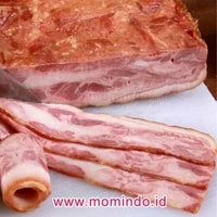 Pork Back Bacon (Daging Babi Asap) 1 Kg - Aroma Frozen Food - 01