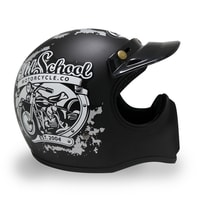 Helm Cakil Old School Black 1