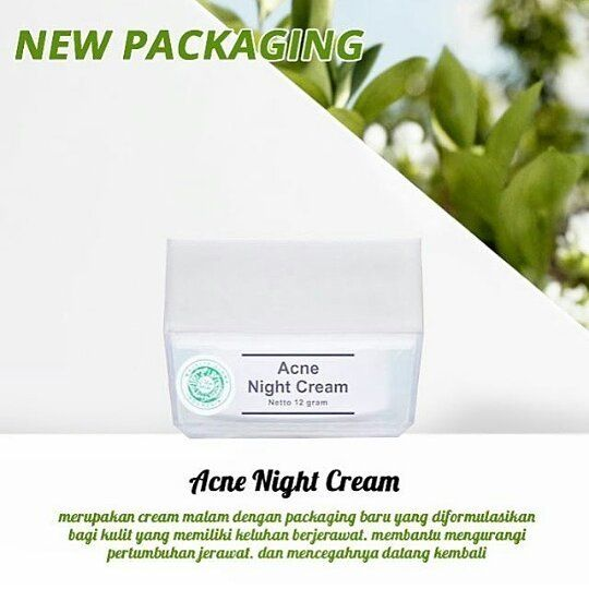 Acne night cream ms glow new packaging