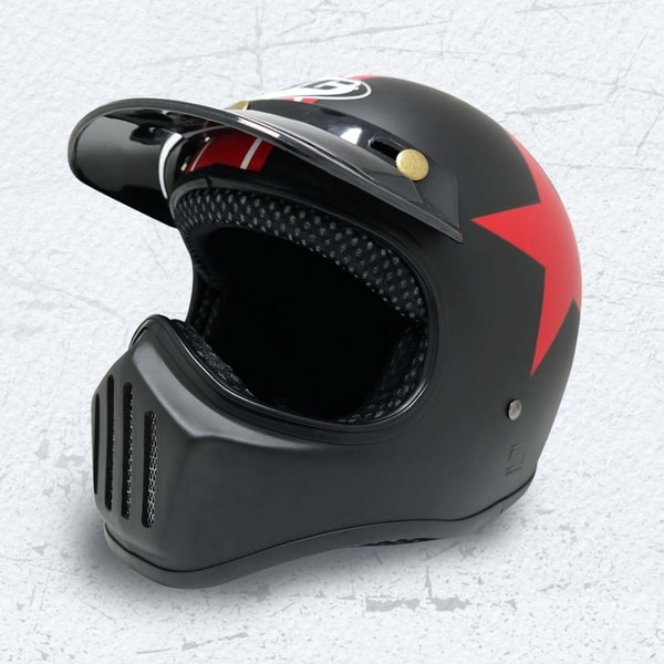 Helm Cakil Red Star