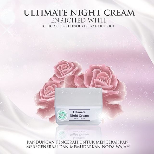 Ultimate night cream ms glow new packaging