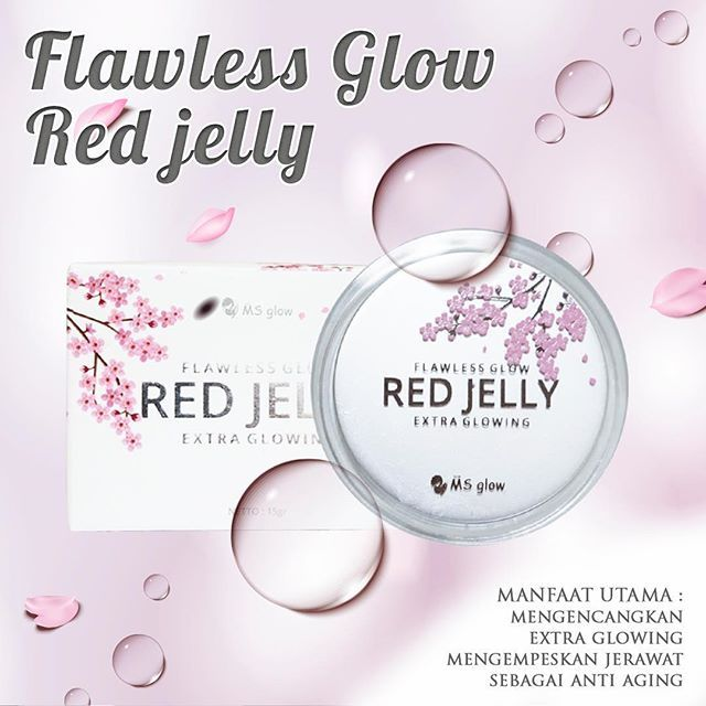 MS Glow Red Jelly Kemasan Baru New Packaging !!